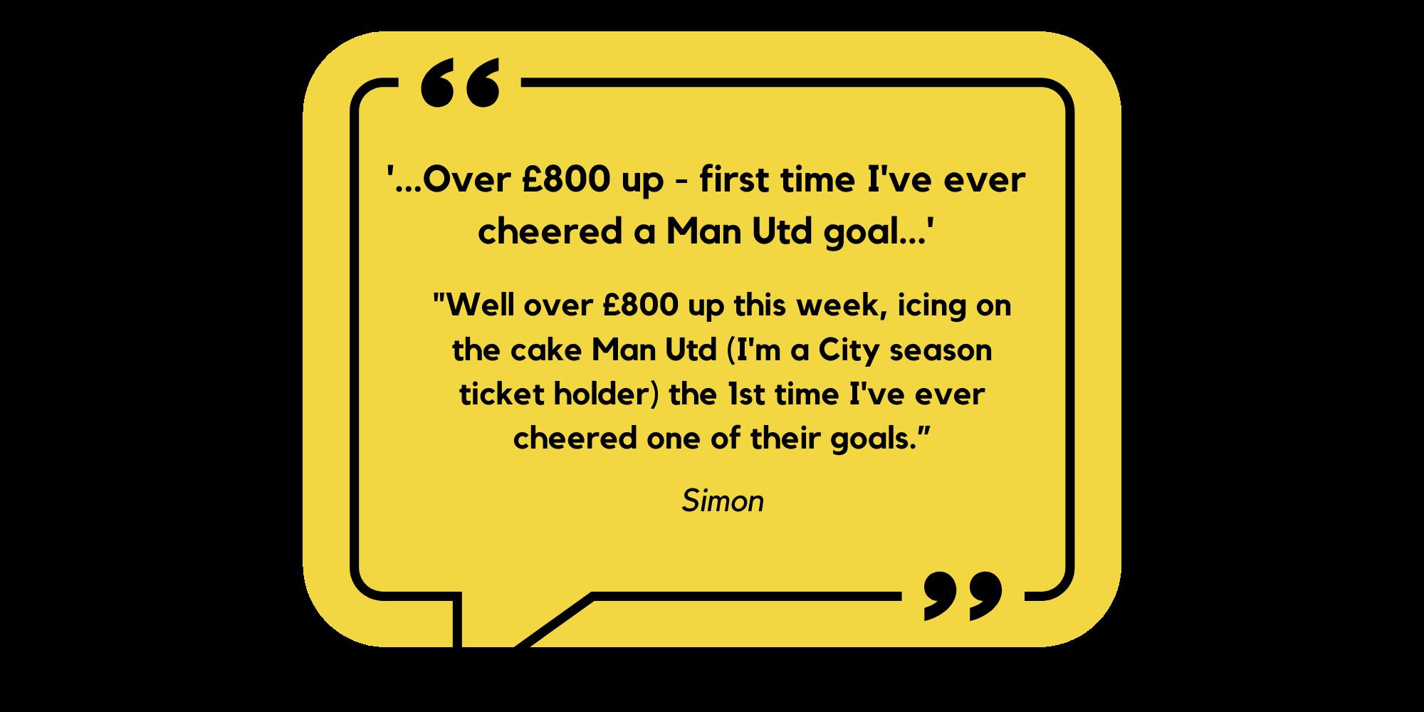 Across the Leagues Testimonial Simon Man City Fan